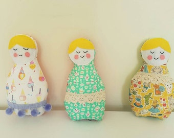 Felt & Material Pretty Bubushka Dolls Plush Toy/Decor!