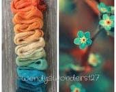 Hand Dyed Yarn, Gradient Yarn, Sock Yarn, Fingering Weight Yarn, 600 yards, Forget Me Not's