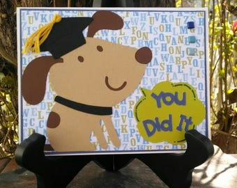 You Did It! Dog Graduation Card