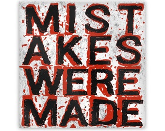 "MISTAKES WERE MADE Metal Magnet, 2"" Square"