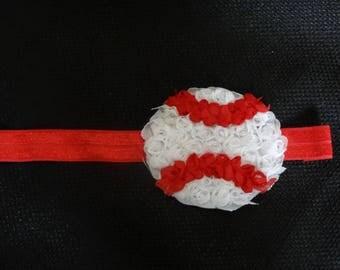 Baseball headband, custom made in your choice of headband color