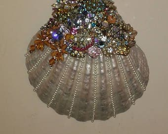 Embellished Clam Shell Large