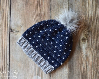 Snowfall Slouchy Hat CROCHET PATTERN Digital Download