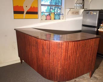 Large Mid-Century Modern Boomerang Tiki BAR - 1950's Man Cave must - Pick up only Houston Area