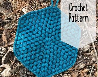 Puff Stitch Trivet Pattern | Crochet Trivet Pattern | Crochet Hot Pad Pattern | Crochet Pot Holder Pattern