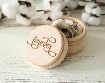 forever Ring Box Rustic Wedding Ring Box