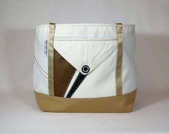 Large Tote Bag, Teacher Tote Bag, Nautical Tote, Travel Tote, Unisex Tote, Gym Bag, Sail Bag, White Bag, Black Bag, Brown Bag (SL60)
