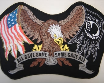 American Eagle POW MIA Flags Patch