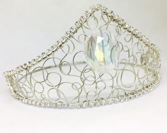Cinderella Crown - Crystal Crown - Wedding Crown - Silver Royal Crown