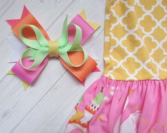 M2M Eleanor Rose Swan Princess-Eleanor Rose, M2M Bow, Girls Hairbow, Swan Bow, Princess Hairbow, Spring Bow, Summer Bow, Princess Birthday