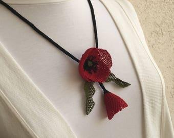 Jewelry, turkish oya, Needlework, Handmade Necklace, Needle lace, Unique Jewelry