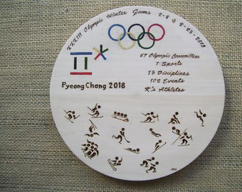 2018 Winter Olympic Games Decorative Plate