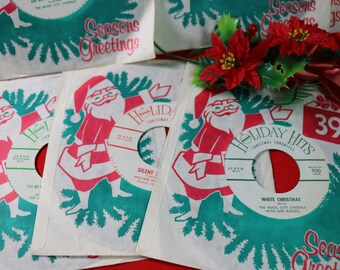 1 Vintage Holiday Hits 45 rpm Record