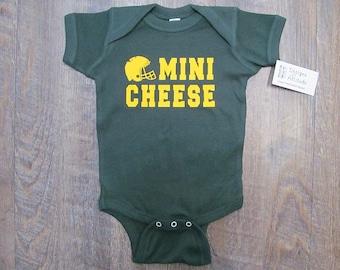 Green Bay Packers Onesie Mini Cheesehead Football onesie baby