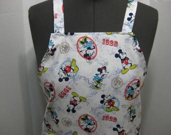 Mickey Mouse And Minnie Adult Apron