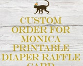 Reserved listing for Monica for Printable Diaper Raffle Card to match Twinkle Twinkle Shower Invitation