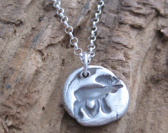 The Wandering Moose // Fine Silver // Recycled Silver // Eco Friendly // Hand Stamped // Custom Length