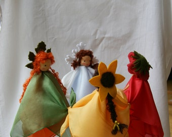 Seasons Round dance / Made to Order / Silk Fairy mobile waldorf style