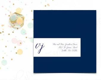 Custom Recipient Addresses - Party Envelope Addressing - Designed Wedding Wraparound Labels - Avery 8217 - Birthday, Graduation - #GFS0001