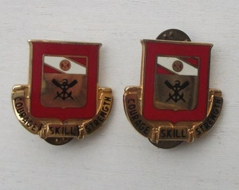 US Army 5th Engineer Battalion Unit Crest set, 5th Engineer DUI, DI set,