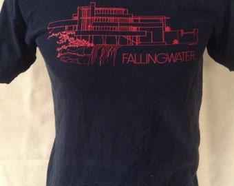 1994 Frank Lloyd Wright Fallingwater t shirt