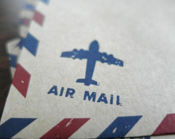 Airmail Envelopes - Vintage Style Envelopes - Kraft Envelopes - Air Mail Envelopes - Invitation Envelopes Set of 20
