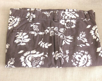 Mens Floral Pant, Pants, Summer Pants, J. Crew, Designer, Menswear, Brown, Mens Pants, Mens Clothing, Preppy Pants, Cotton Pants, Print