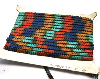 Long length of vintage multi coloured woven braid trimming  (Ref V30)