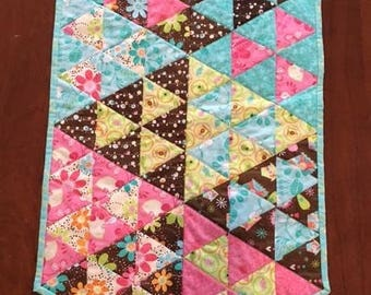 Quilted Table Runner, Spring Fling