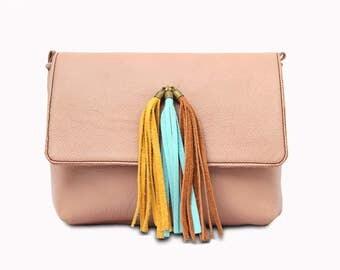 BIMBA Handmade Leather Bag, Small Crossbody Leather Bag, Leather Shoulder Bag, Artisanal Leather Handbag for Women.