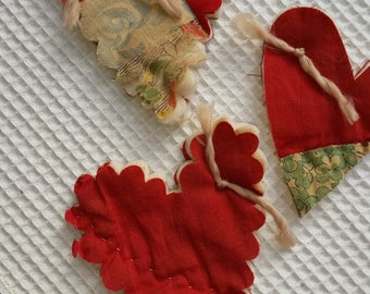 Hearts from Vintage Cutter Quilt (3) Free Shipping
