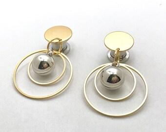 2g Dangle Plugs 0g Ear Plugs 6g 4g Silver and Gold Plugs 00g 10mm 8mm 6mm 5mm 4mm Gauge Dangling Hoops