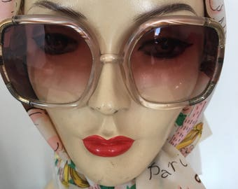 1970s Ted Lapidus Rose Tinted lens Sunglasses