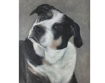 custom dog portrait painting on canvas best art gift for pet lover 16x20