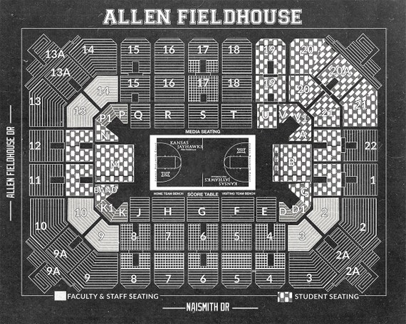 allen fieldhouse seating diagram  engine  auto parts