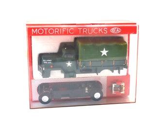 Ideal Motorific Trucks Army Troop Transport w/Case 1966