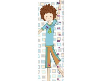 Personalized Growth Chart for Boys who Love Basketball