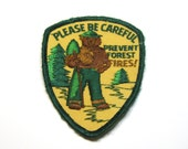 Vintage Smokey the Bear Patch: Prevent Forest Fires, Smokey the Bear Souvenir