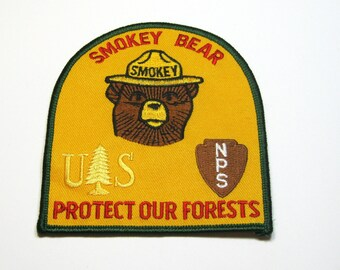 Vintage Smokey the Bear Patch: Protect Our Forests, Smokey the Bear Souvenir