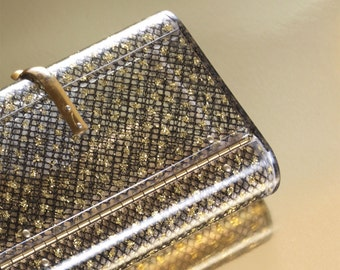 Sold Out / Wilardy Lucite Clutch in Stardust Pattern