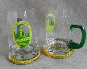 Vintage German Pilsener Glass Beer Mugs