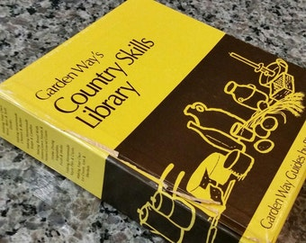 Garden Way's Guide Country Skills Library 7 book set, P Hobson, HomeStead Recipe 0882661558