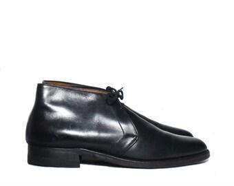 8 D | Men's Vintage Florsheim Chukka Black Dress Boots
