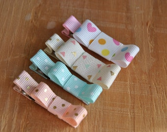 Baby Hair clips, Infant hair clips, Toddler hair clips, No Slip Baby Hair Clips, Clips for Babies, Clips for Toddlers, Ribbon Hair Clips
