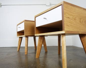 """The """"MicroDot"""" a mid century modern nightstand"""