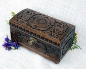 Lock jewelry box Wooden jewelry box Jewelry box wood with key Ring box Wooden box Wedding jewelry box Dark jewelry ring box boite bijoux B12