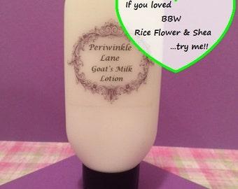 BBW Rice Flower & Shea type Goats Milk Lotion, Body Mist, Body Powder, Body Milk, Shower Gel, or Foaming Hand Soap