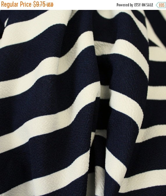 Textured double knit fabric,Double knit fabric,Navy and cream knit fabric,Striped knit fabric,Skirt fabric,Apparel fabric,Fabric by the YAR