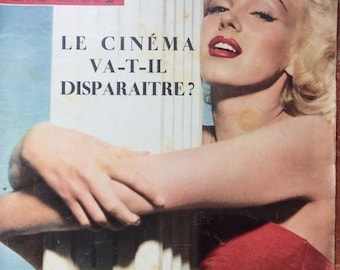 Stunning Rare French Paris Match 1953 edition of Marilyn Munroe