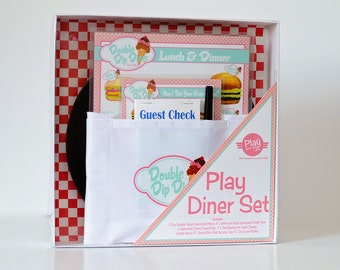 DELUXE Childs Pretend Play Restaurant  Menu Set